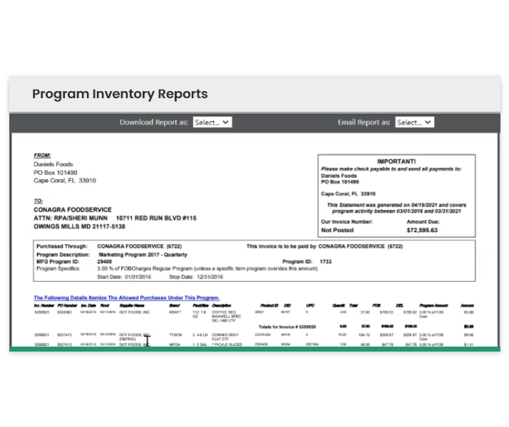 Program Inventory Reports